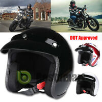 T50 DOT Torc3/4 Open Face Motorcycle Scooter Helmet Cafe Racer Retro Vintage New