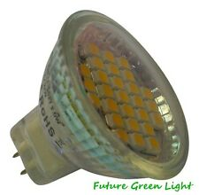 MR11 27 SMD LED 2W 12V (10-30V DC / 10-18V AC) 120LM WARM WHITE BULB ~25W