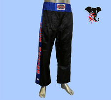 PANTALONE KICK BOXING RASO FULL CONTACT SEMI CONTACT FIT BOXE SAVATE PUGILATO