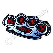Embrasse cette Knuckle Duster Autocollant, Chrome Vinyle Autocollant, Roller Derby Sticker