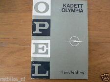 OPEL KADETT OLYMPIA HANDLEIDING 1969 OWNERS MANUAL,INSTRUCTION BOOK