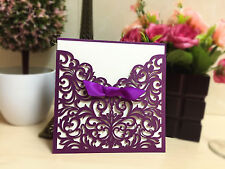 Personalized 20Pcs Romantic Wedding Invitation Cards+inner sheet+Envelope Blank