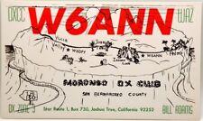Cartolina QSL Radioamatori USA Morongo DX Club 1969 Joshua Tree, California, San