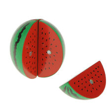 Wooden Magnetic Connected Watermelon Kids Kitchen Cutting Food Pretend Toy