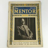 VTG The Mentor Magazine February 1923 Writer O. Henry Cover Feature, Newsstand
