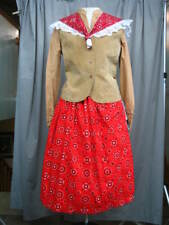 Western Dress Cowgirl Costume Old West Frontier Prairie Style Theatrical M-L