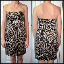 PAPAYA new with tags UK 8 women fashion cocktail party leopard print casual even
