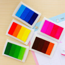 Multi Colours Craft Set Ink Pad Inkpad for Paper Wood Fabric for Rubber S gghh