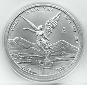 MEXICO 1 ONZA 2021 ( LIBERTAD ) 1oz SILVER Coin (Ag 999) UNCIRCULATED