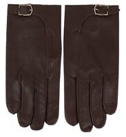 John Lobb Handmade Luxury Twinstitch Buckle Gloves Brown BNWT Size 8.5 RRP £325