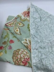 Raymond Waites Standard Pillow Shams Floral Green French Country Farmhouse Set/2