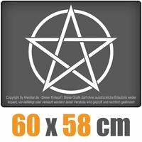 Pentagramm  chf0137 weiß 60 x 60 cm Heckscheibenaufkleber Scheibe Auto Car