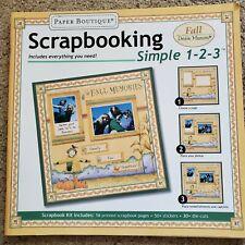 Paper Boutique Debbie Mumm Simple Fall Scrapbook Kit *NEW