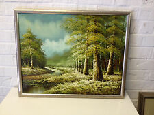 Unknown Age Signed Kingman Oil on Canvas Forest Landscape Painting