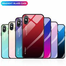HandyHülle Für iPhone XS Max XR X 6 6s 7 8 Plus Gradient Glas Case Cover Taschen