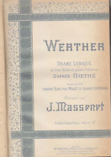 C1 MASSENET - WERTHER Partition EDITION ORIGINALE 1892 Menestrel Heugel RELIE