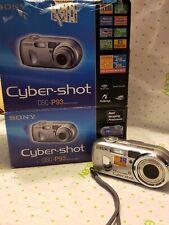 Sony Cyber-shot DSC-P93 5.1 MP Digital Camera - Silver Boxed, rechargeable batt