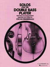 Solos for the Double-Bass Player Double Bass and Piano String Solo Boo 050330830