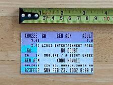 Sublime No Doubt 1992 Punk Ticket Stub Kbd 311 Bad Brains Incubus Misfits Flyer
