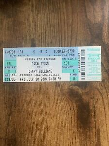 Mike Tyson vs Danny Williams 2004 FULL Unused Ticket, Louisville, KY