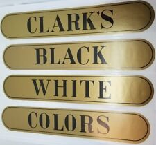 Set of 4 - Clark's Spool Cabinet Decals stickers sign thread antique vintage ...