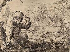 ALLART VAN EVERDINGEN DUTCH REYNARD MOCKS WOEFUL BEAR ART PRINT POSTER BB4804A