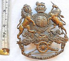 An Original Military Victorian Royal Artillery Helmet Badge Plate (3449)