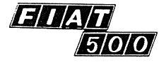 Scritta Fregio Posteriore Fiat 500 In Zama