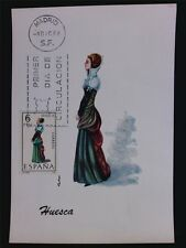 SPAIN MK 1968 TRAJES HUESCA TRACHT COSTUME MAXIMUMKARTE MAXIMUM CARD MC CM c6091