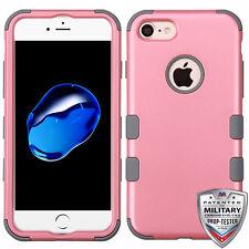 IPHONE 6, 6s, 7 - MYBAT Rubberized Pearl Pink/Iron Gray TUFF Hybrid Phone Case
