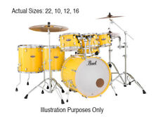 Pearl DMP925S/C228 Decade Maple Drum Kit With Hardware, Solid Yellow (NEW)