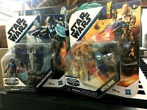 Star Wars Mission Fleet Gear Class Battle Droid & Mandalorian Trooper NEW HTF