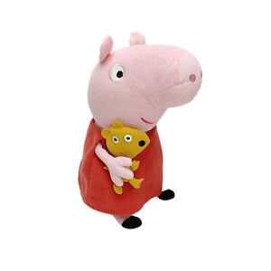 Peppa Pig With Teddy Plush Stuffed Animal Soft Toy Washed & Clean 33cm Kids