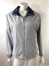 Columbia Womens Ski Jacket Size Medium Light Blue Fleece Lined Coat Zip Up