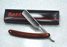 Straight Edge Razor Steel Folding Shaving Wood Handle Knife Barber Beard NEW