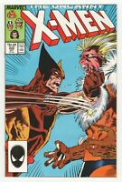 Uncanny X-Men #222 (Marvel 1987) Wolverine vs Sabretooth - Marc Silvestri Art