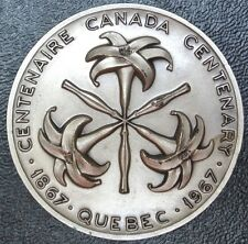 1867-1967 QUEBEC - Canada Centenary Medal - Large - 50mm Dia. 4mm Thick - HUGE