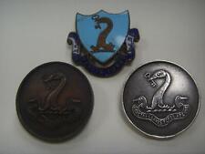 More details for 3 badges silver enamel etc sanctas clavis fores aperit bury grammer school