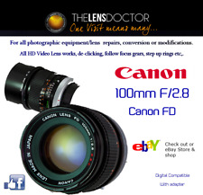 CANON FD 100mm F2.8 REFURBISHED REBUILT CAPS,HOOD IN MINT CONDITION SEE PICS