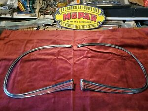 #628 1941 Plymouth NOS Grill Moldings #900636 & 900637