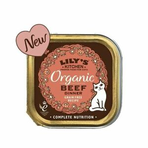 Lily's Kitchen Organic Beef Dinner for Cats (85g) - Pack of 4