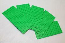 LEGO MiniFigure Base Plate 8x16 Green - LOT of 5 - Thin Small Stud Brick Table