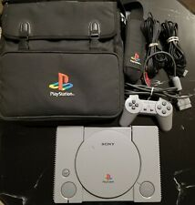 WORKING PLAYSTATION 1 PS1 CONSOLE WITH CONTROLLER/CORDS/BAG