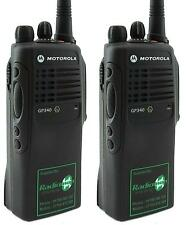 Motorola Gp340 Uhf Atex Noir Ex I. S. Deux Voies Radios X 2 - (Mdh25rcc4an3aea)