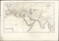 1855 Dussieux Antique Map of The Ottoman Empire from India to Spain