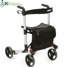 X Fold Rollator 4 Wheeled Walker Lightweight Walking Mobility Aid Frame