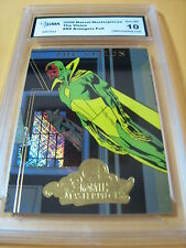 THE VISION 2008 MARVEL MASTERPIECES AVENGERS FOIL # A8 GRADED 10  L@@@K