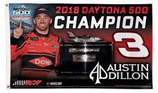 AUSTIN DILLON Daytona 500 2018 Champion 3'x5' Deluxe OFFICIAL NASCAR GIANT FLAG