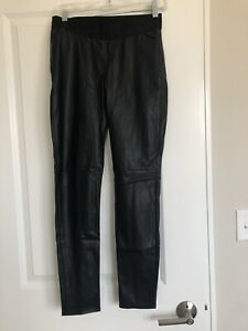 nwt ann taylor faux leather pants size 4P