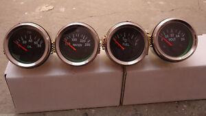 """Gauges Set ( 4 pc) - Oil Pressure Temp Volt Fuel Gauge 2"""" Electric Chrome"""